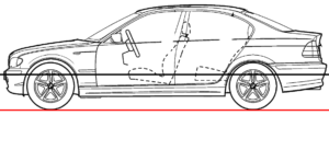 Bmw e46 3d model part 1 blueprints and reference material these blueprints were then set as background images on the blender project malvernweather Images